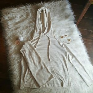 forever 21 shoulder cut out hoodie.